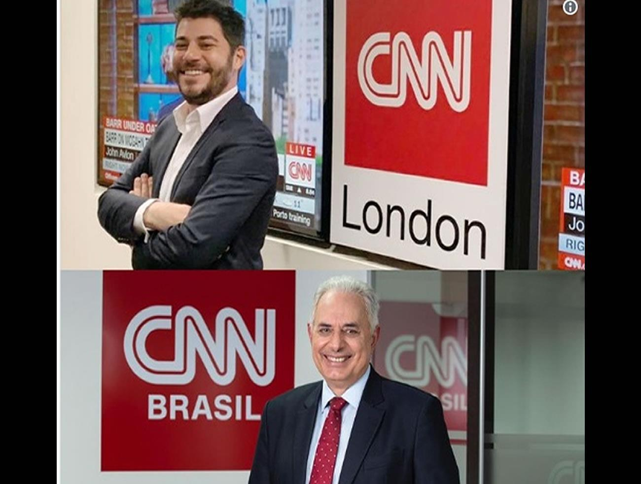 Evaristo Costa e William Waack no CNN Brasil